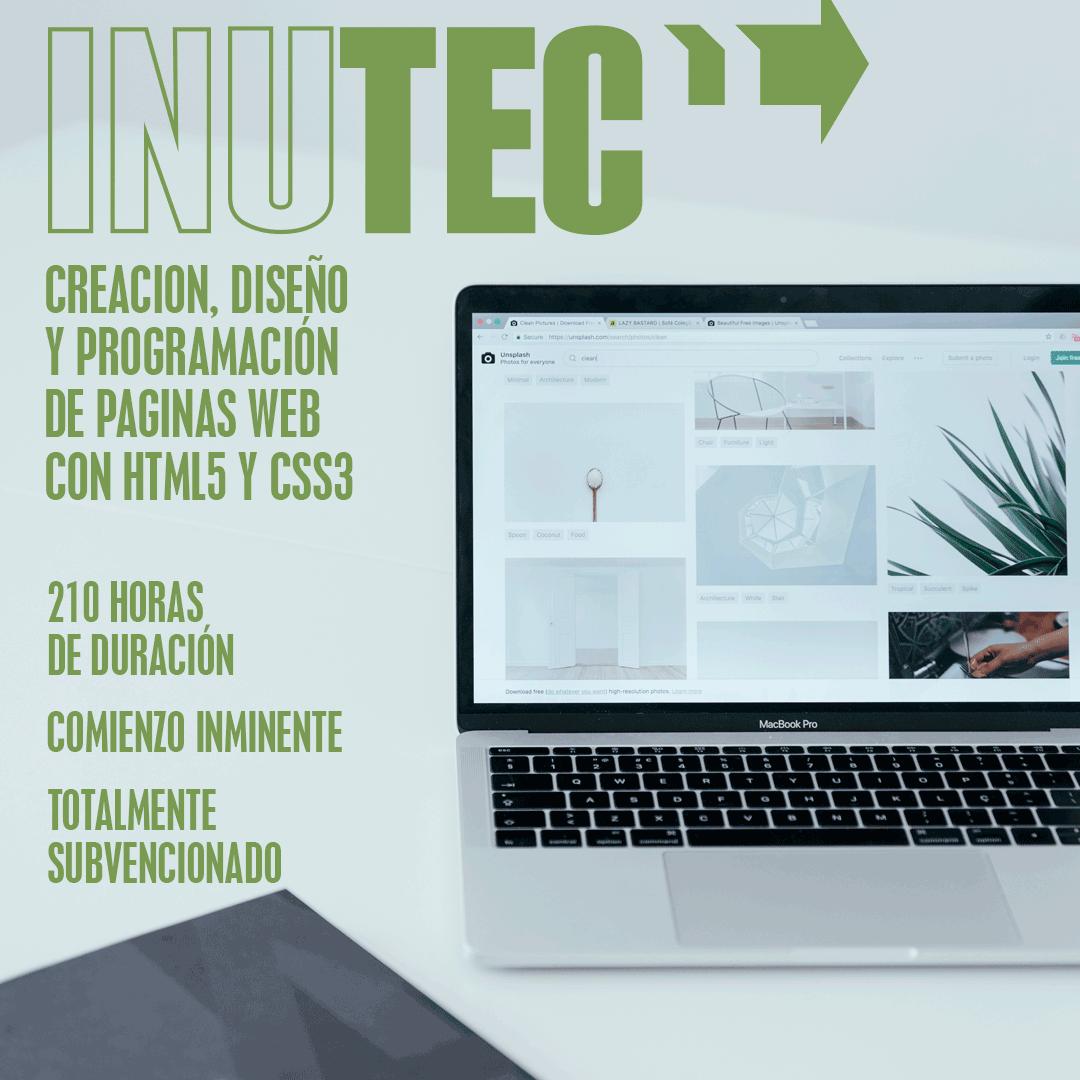 CREACION, DISEÑO Y PROGRAMACIÓN DE PAGINAS WEB CON HTML5 Y CSS3